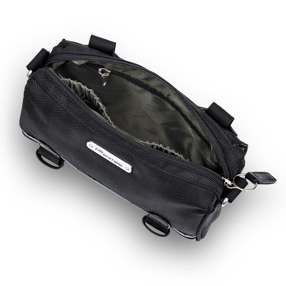 Kinga Handlebar Bag - Herringbone Black