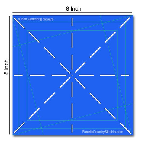 Image of Centering Squares - Set of 2 - 6 & 8 Inch - 1/8 Inch Thick For Marking And Rotary Cutting