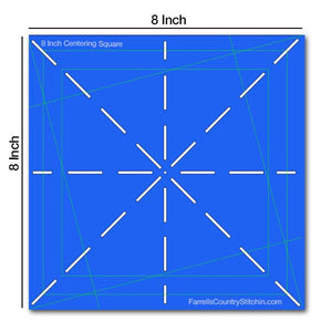 Centering Squares - Set of 2 - 6 & 8 Inch - 1/8 Inch Thick For Marking And Rotary Cutting
