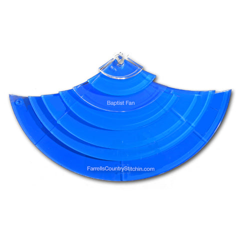 7 Piece Baptist Fan - Longarm - 1/4 Inch Thick