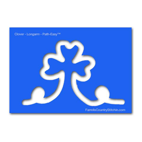 Lucky Charm - Clover - w/Key - Longarm - Path Easy™ - 1/2 Inch Path Width - 1/4 Inch Thick