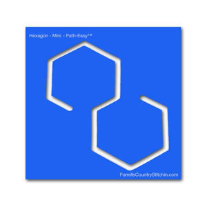 Hexagon - Mini - Path Easy™ - 1/4 Inch Path Width - 1/8 Inch Thick