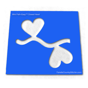 Hearts - Closed - Mini  - Path-Easy™ - 1/4 Inch Path Width - 1/8 Inch Thick