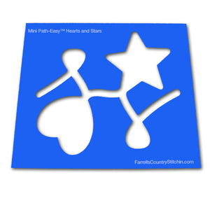 Hearts & Stars - Mini - Path Easy™  - 1/4 Inch Path Width - 1/8 Inch Thick