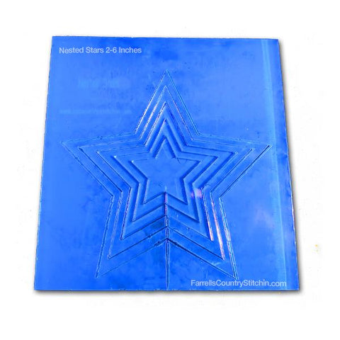 SnD Nested Stars - 1/8 Inch Thick.  This template has 5 sizes of stars