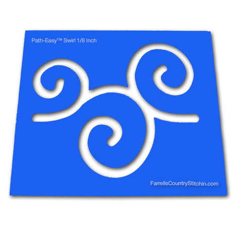 Swirls - Classic - Path Easy™ - 1/2 Inch Path Width - 1/8 Inch Thick