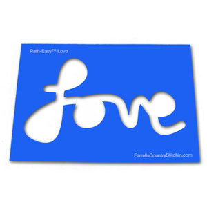 Love - Classic - Path Easy™ - 1/2 Inch Path Width  - 1/8 Inch Thick