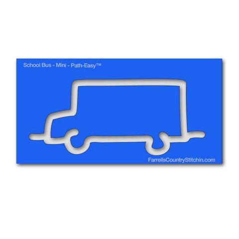 School Bus - Mini - Path Easy™ - 1/4 Inch Path Width - 1/8 Inch Thick