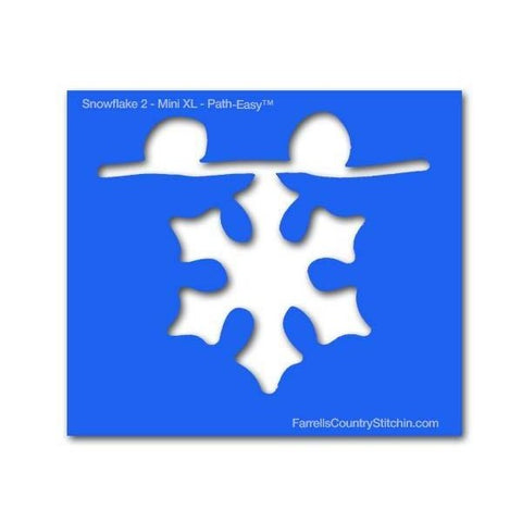 Image of Snowflake 2 - Mini XL - Path Easy™  - 1/4 Inch Path Width - 1/8 Inch Thick