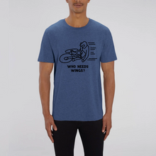 Load image into Gallery viewer, Unisex Who Needs Wings? Organic T-Shirt