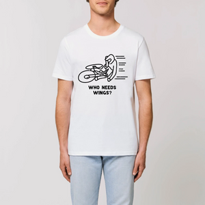 Unisex Who Needs Wings? Organic T-Shirt
