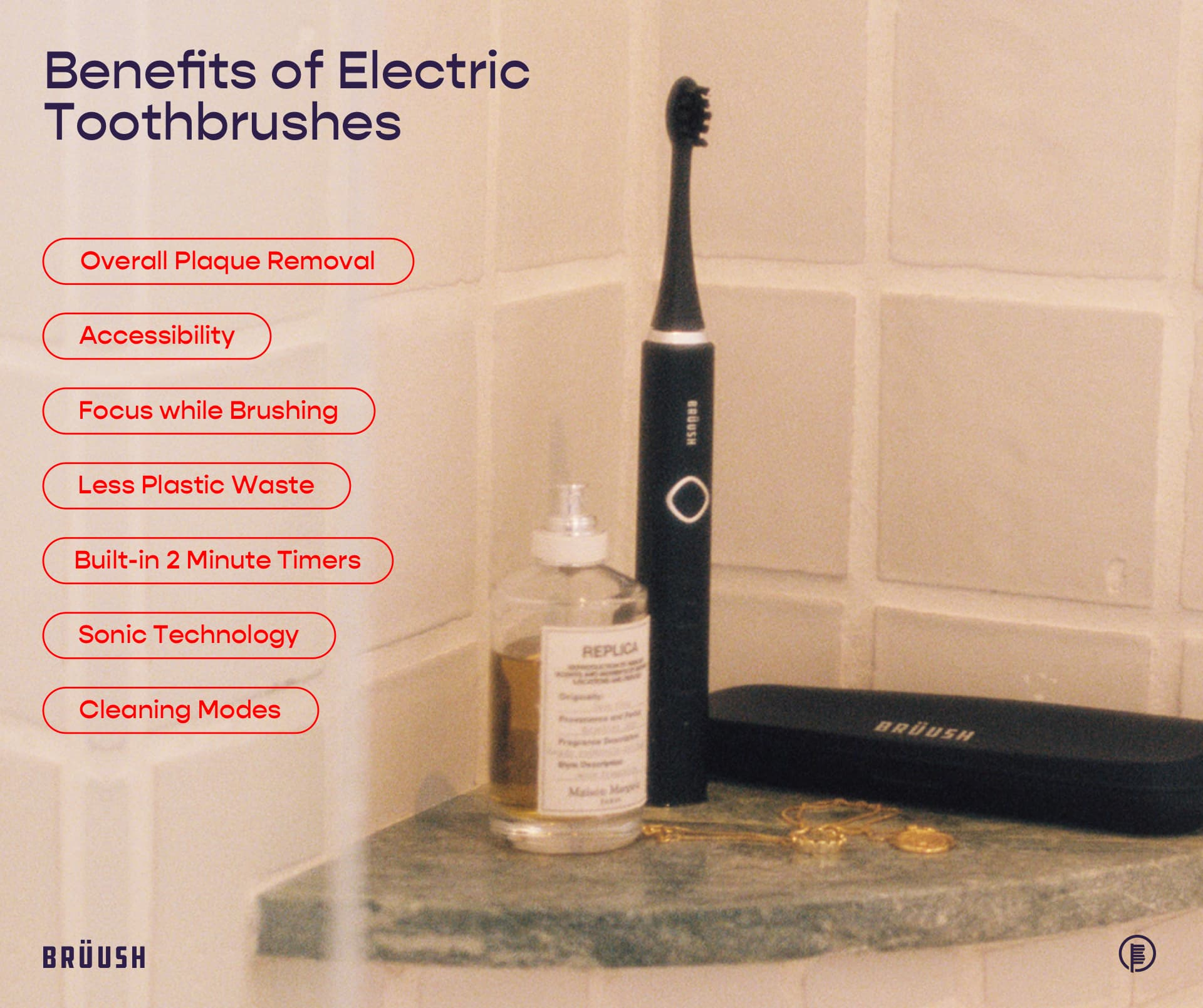 the benefits out electric toothbrushes listed