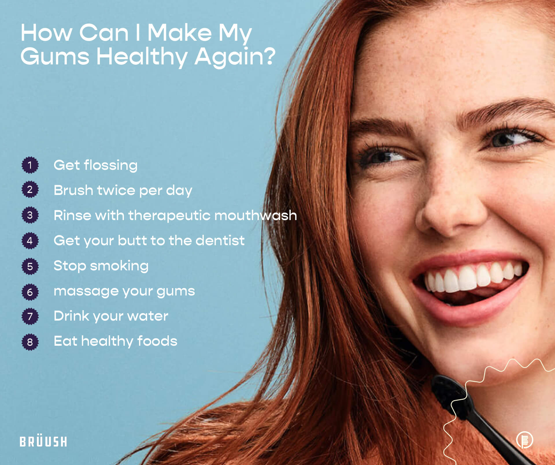 Healthy Gums Checklist (How to tell if your gums are healthy):