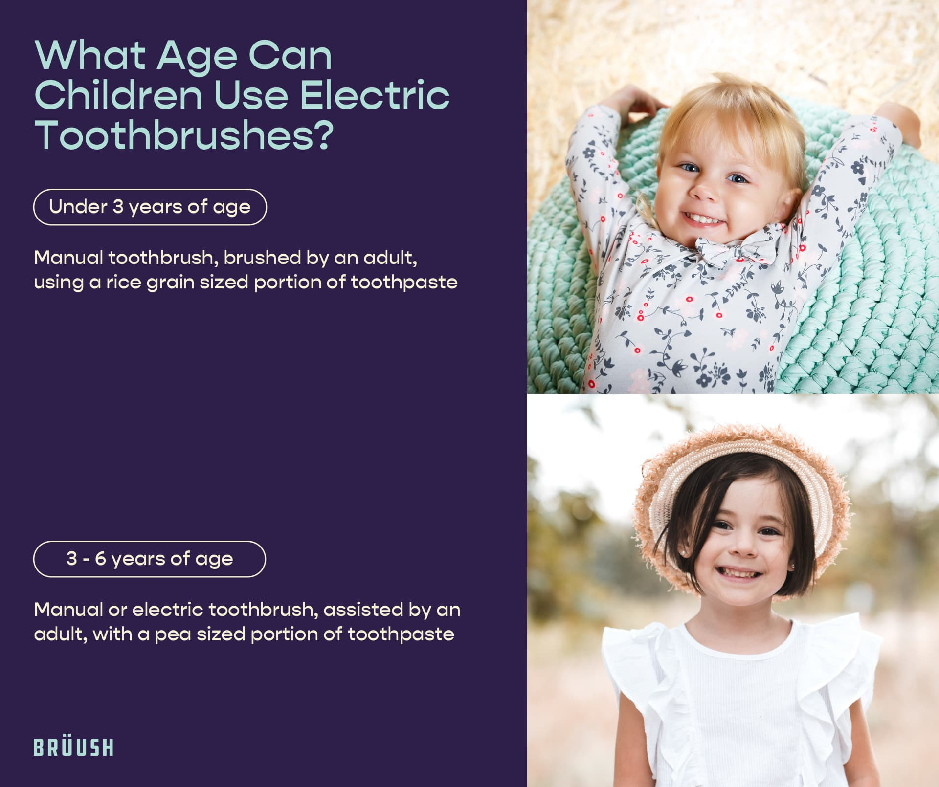 what age can children use electric toothbrushes?