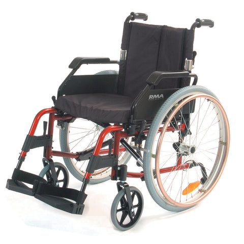 Lightweight Self-Propelling Wheelchair - Red