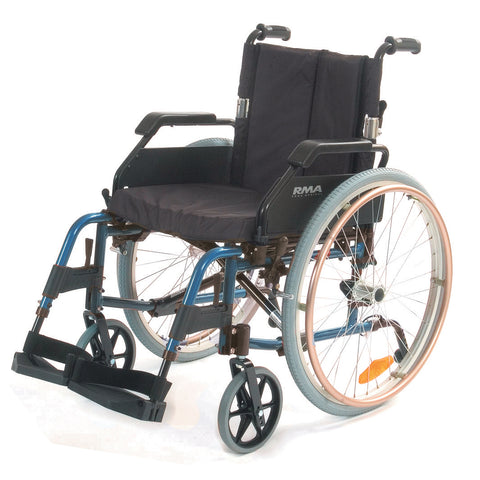 Lightweight Self-Propelling Wheelchair - Blue