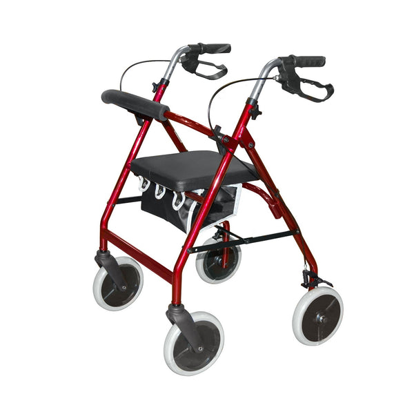 Lightweight Rollator in Red by Roma Medical