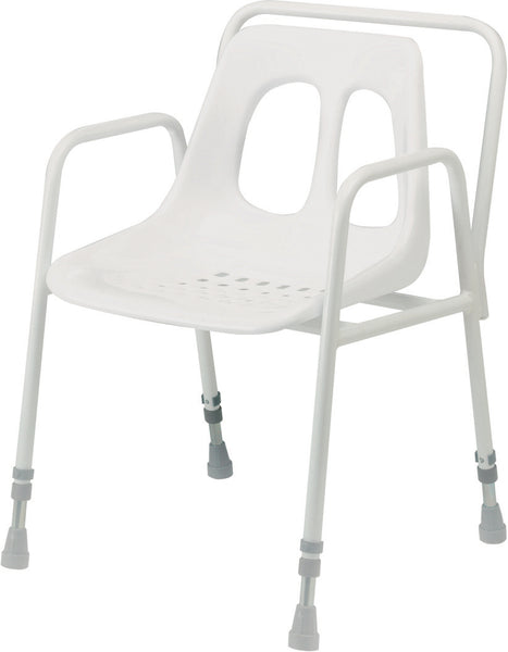 Adjustable Height Stationary Shower Chair