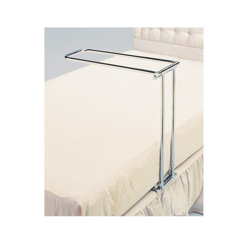 The Chrome Roma Folding Bed Cradle In Use on a Bed