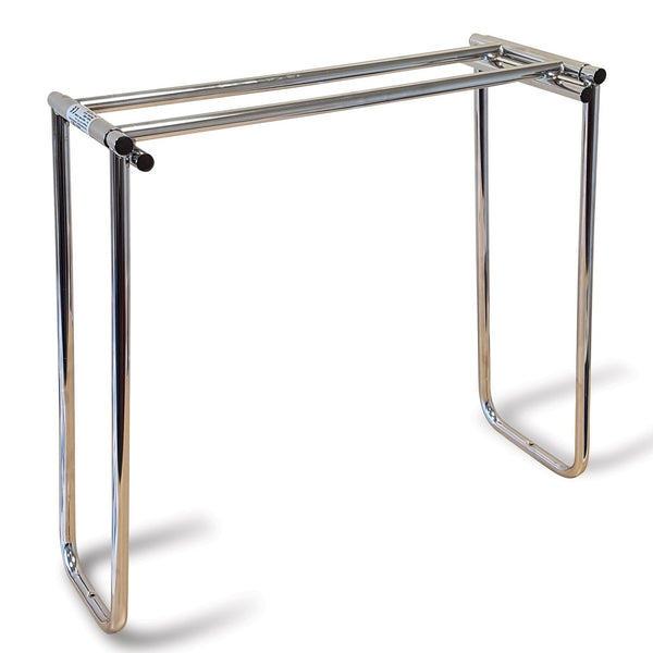 The Chrome Roma Folding Bed Cradle Opened