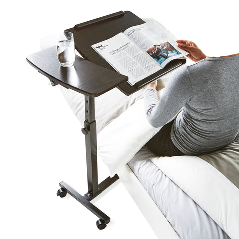 Bed table - adjustable and tiltable