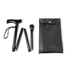 Walking cane foldable - black