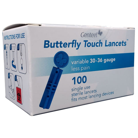 Butterfly Touch Lancets Box of 100