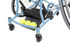Close up front of the Tennis Wheelchair
