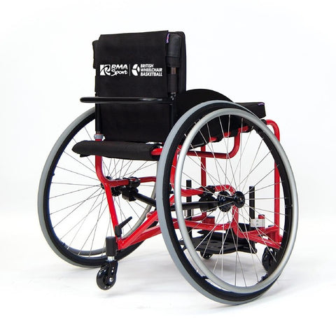Red RMA Sport Basketball Wheelchair Rear Side View