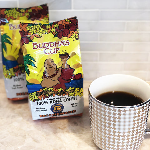Buddha's Cup Single Origin Hawaiian Kona Coffee (Decaf 8oz)