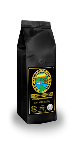 Kona Gold Coffee Whole Beans - 16 oz, by Kona Gold Rum Co. - Medium/Dark Roast Extra Fancy - 100% Kona Coffee