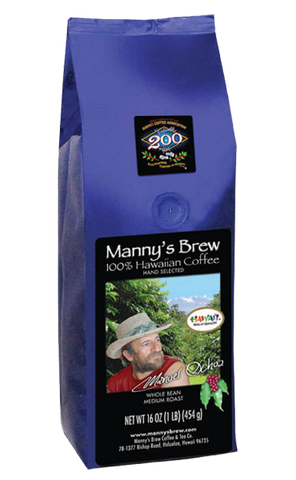 Manny's Brew 100% Hawaiian Coffee – Estate Medium Roast - Exclusive for Shopify!