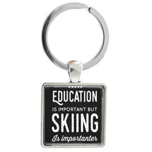 Load image into Gallery viewer, Love Skiing Keychain