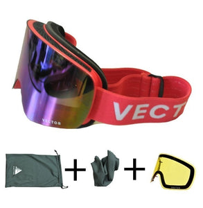 Ski Goggles Snow Glasses Interchangeable Anti-fog Double-layered Coating