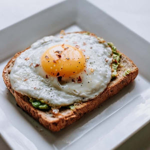 WEDNESDAY AVOCADO TOAST WITH CRISPY FRIED EGG gf available 4