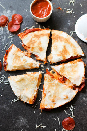 THURSDAY TURKEY PEPPERONI PIZZA QUESADILLA 1
