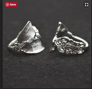 Silver Mermaid Ring Tails