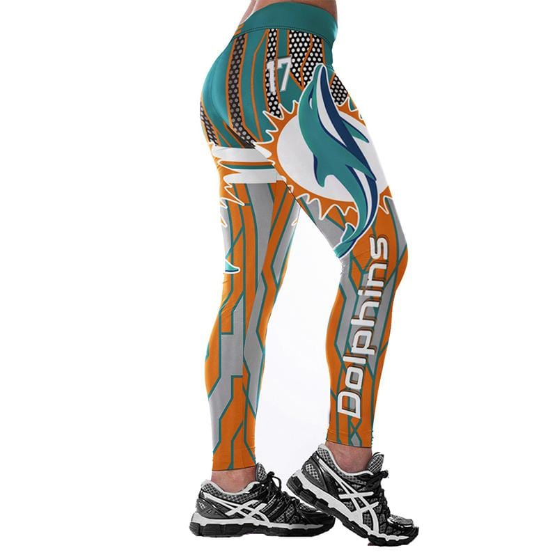 e384dec6 Miami Dolphins Print Leggings Women Casual Breathable Pants