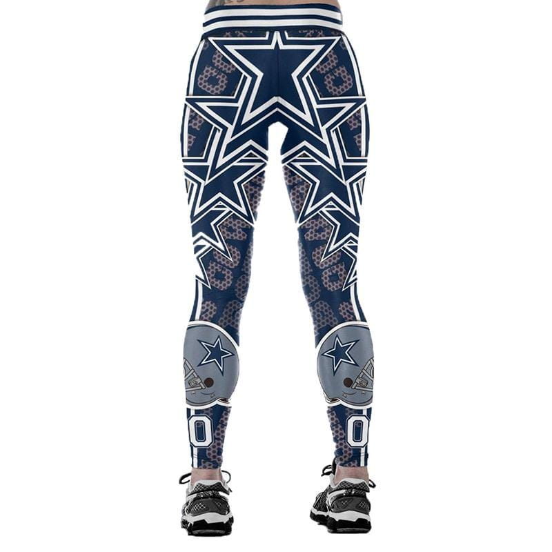 58898ec2fd58b ... Dallas Cowboys Print NFL Leggings Women Fashion Yoga Pants ...
