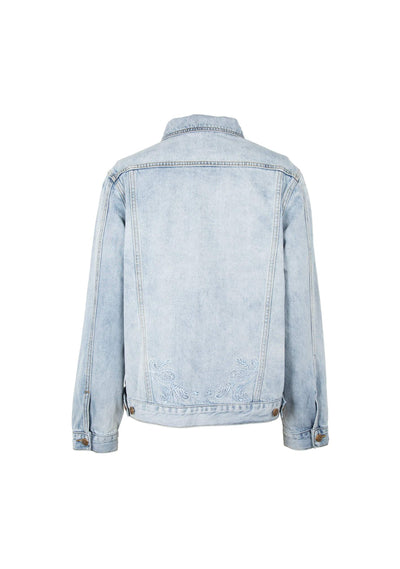 Quinn Denim Jacket Light Wash - Auguste The Label