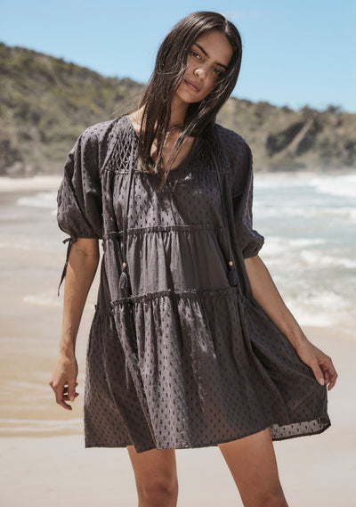 Scott Mini Dress Charcoal
