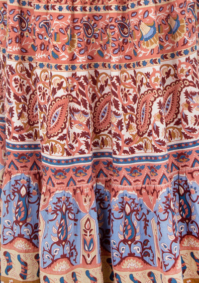 Bohemian Quest Midi Dress Rose - Auguste The Label