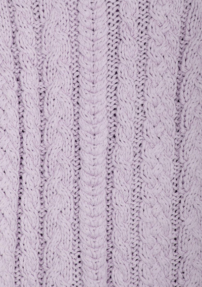 Chloe Cropped Cable Jumper Lilac - Auguste The Label