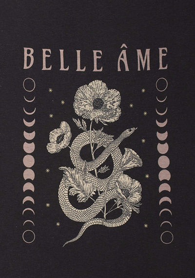 Belle Ame Classic Tee Washed Black - Auguste The Label