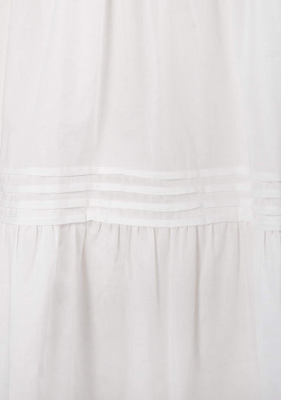 Elora Midi Dress White - Auguste The Label