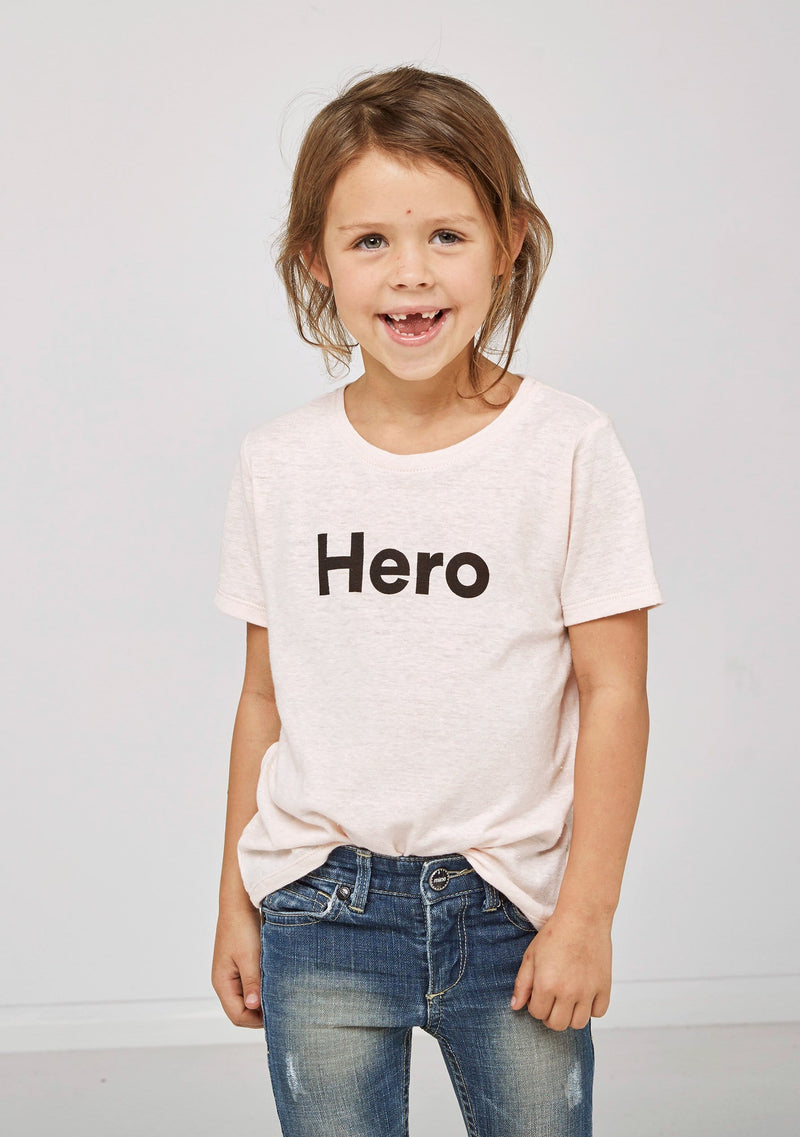 Kids Hero Tee Blush