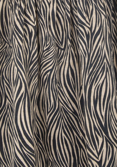 Zebra Lucette Midi Dress Black - Auguste The Label