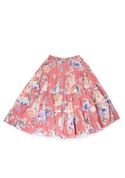 Pascal Little Miss Maxi Skirt Rose - Little Auguste
