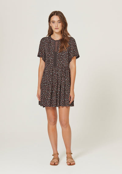 Morgan Delilah Mini Dress Black - Auguste The Label