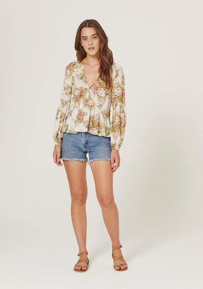 Bonnie Helena Blouse Off White - Auguste The Label